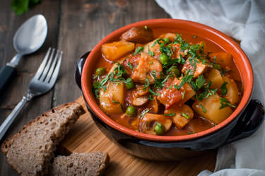 Mushroom and potato stew